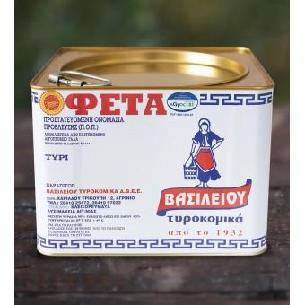 Τυρί Φέτα Π.Ο.Π. Βασιλείου 7kg