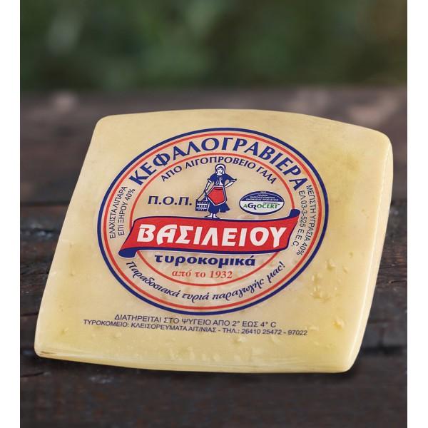 Τυρί Κεφαλογραβιέρα Π.Ο.Π. Βασιλείου 300g